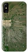 Motherboard Architecture Green IPhone Case