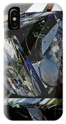 Motorcycle And Park Bench As Art IPhone Case