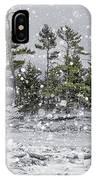 Mount Desert Narrows Snowscape IPhone Case