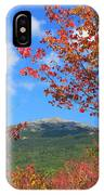 Mount Monadnock Red Maple Foliage IPhone Case