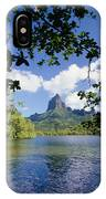 Mount Rotui From Across Opunohu Bay IPhone Case