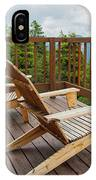 Mountain Adirondack Chairs IPhone Case