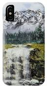 Mountain And Waterfall  IPhone Case