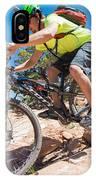 Mountain Biker On The Porcupine Rim Trail Near Moab IPhone Case