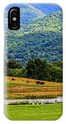Mountain Farm With Pond IPhone Case
