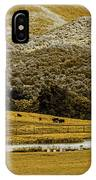 Mountain Farm With Pond In Artistic Version IPhone Case