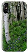 Mountain Flowers And Aspen IPhone Case