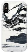 Mountain Lake In Black And White IPhone Case