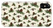 Mountain Lodge Cabin In The Forest - Home Decor Pine Cones IPhone Case