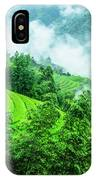 Mountain Scenery In Mist IPhone Case
