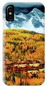 Mountain Village Autumn IPhone Case