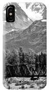 Mountains Alaska Bw IPhone Case