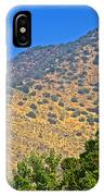 Mountainside From Wealthy Neighborhood Above Santiago-chile IPhone Case
