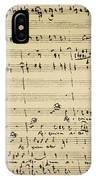Mozart: Requiem Excerpt IPhone Case