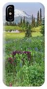 Mt Rainier Meadow Flowers IPhone Case