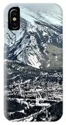 Mt Rundle Aerial View IPhone Case