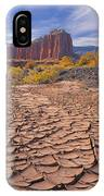 212648-mud Cracks Upper Cathedral Valley  IPhone Case