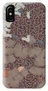 Muddy Footprints Over A Carpet IPhone Case