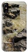 Muddy Water On The Rocks IPhone Case