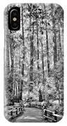 Muir Woods Bw IPhone Case