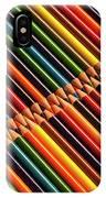 Multicolored Pencils In Rows IPhone Case
