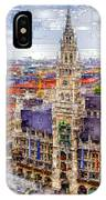 Munich Cityscape IPhone Case