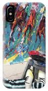 Mural Del Mar Race Track IPhone Case