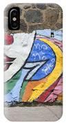 Mural In Valparaiso IPhone Case