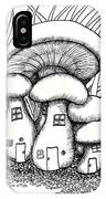 Mushroom Fairy Houses And Grass IPhone Case