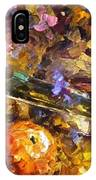 Music And Wine - Palette Knife Oil Painting On Canvas By Leonid Afremov IPhone Case
