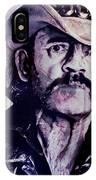 Music Icons - Lemmy Kilmister Iv IPhone Case