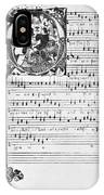 Music Manuscript, 1450 IPhone Case