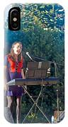 Musical Entertainers In Central Park In Bariloche-argentina IPhone Case