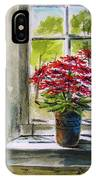 Musing-gerberas At The Window IPhone Case