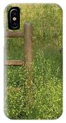 Mustard Grass And Fence At Entrance To Peters Canyon IPhone Case