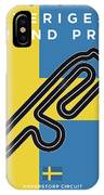My F1 Anderstorp Race Track Minimal Poster IPhone Case