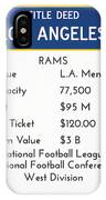 My Nfl Los Angeles Rams Monopoly Card IPhone Case