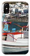 Mykonos Greece Fishing Boats IPhone Case