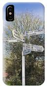 Mylor Signpost IPhone Case