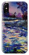 Mysterious Blue Pond IPhone Case