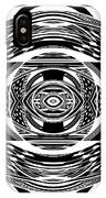 Mystical Eye - Abstract Black And White Graphic Drawing IPhone Case