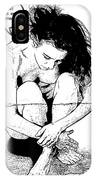 Naked Woman Comic Illustration IPhone Case