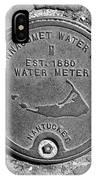 Nantucket Water Meter Cover IPhone Case