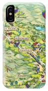 Napa Valley Illustrated Map IPhone Case