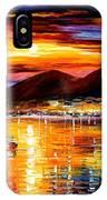 Naples - Sunset Above Vesuvius IPhone Case