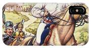 Napoleon Making A Narrow Escape With An Austrian Cavalry Patrol Close On His Heels IPhone Case
