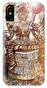 Illuminated Narasimha Dev In Sepia IPhone Case
