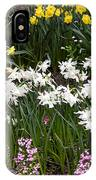 Narcissus And Daffodils In A Spring Flowerbed IPhone Case