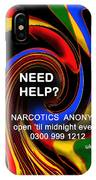 Narcotics Anonymous Poster IPhone Case