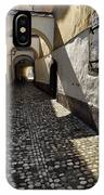Narrow Cobblestone Alley Ribji Trg Or Fish Square From Cankar Qu IPhone Case